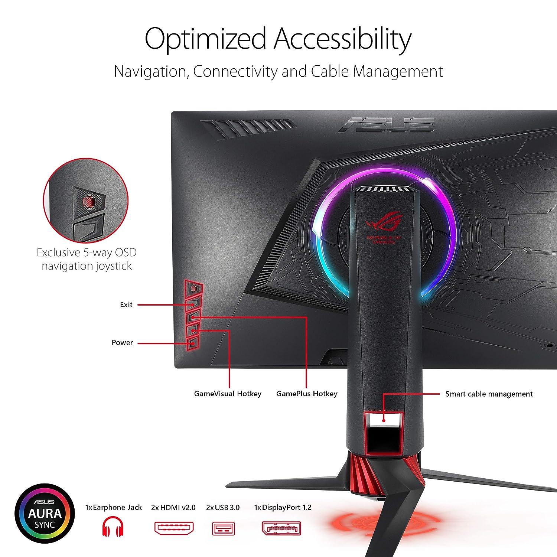 "ASUS ROG Strix XG248Q 23.8/"" Full HD 1080p 1ms 240Hz DP HDMI Eye Care FreeSync Esports Gaming Monitor"