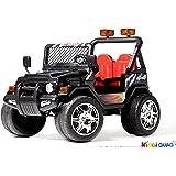 4X4 électrique pour enfant Jeep noir, 12 volts - 7Ah, 2 Moteurs