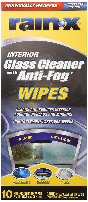 Rain-x limpiador toallitas W/Anti niebla 7