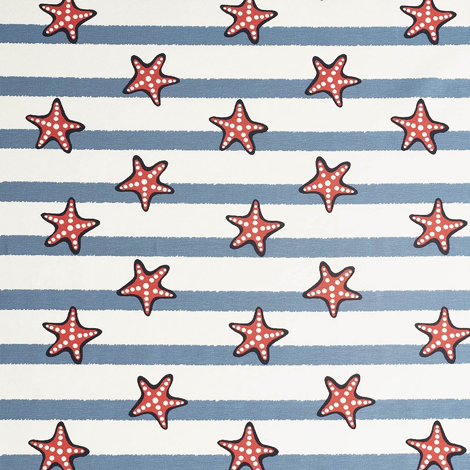 b86697a219c4 Laura - cotton jersey fabric with a maritime print - children's ...