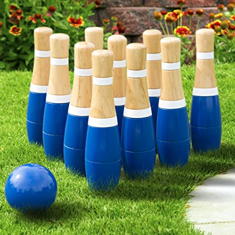 33791f9ee0f30b Amazon.com  Lawn Bowling Game Skittle Ball- Indoor and Outdoor Fun ...