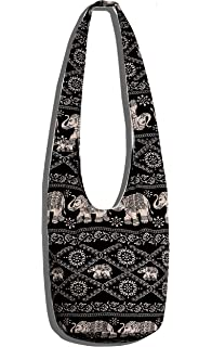 Amazon.com: BTP! Thai Cotton Hippie Hobo Sling Crossbody Bag ...
