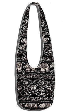 Amazon.com | Crossbody Bag Thai Top Zip Hobo Sling Bag Handmade ...