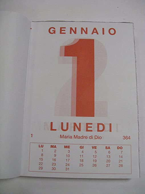 Calendario A Strappo.Calendario A Strappo Blocco Da Muro 2018 F To 21x30 Cm Art 217 Gigante