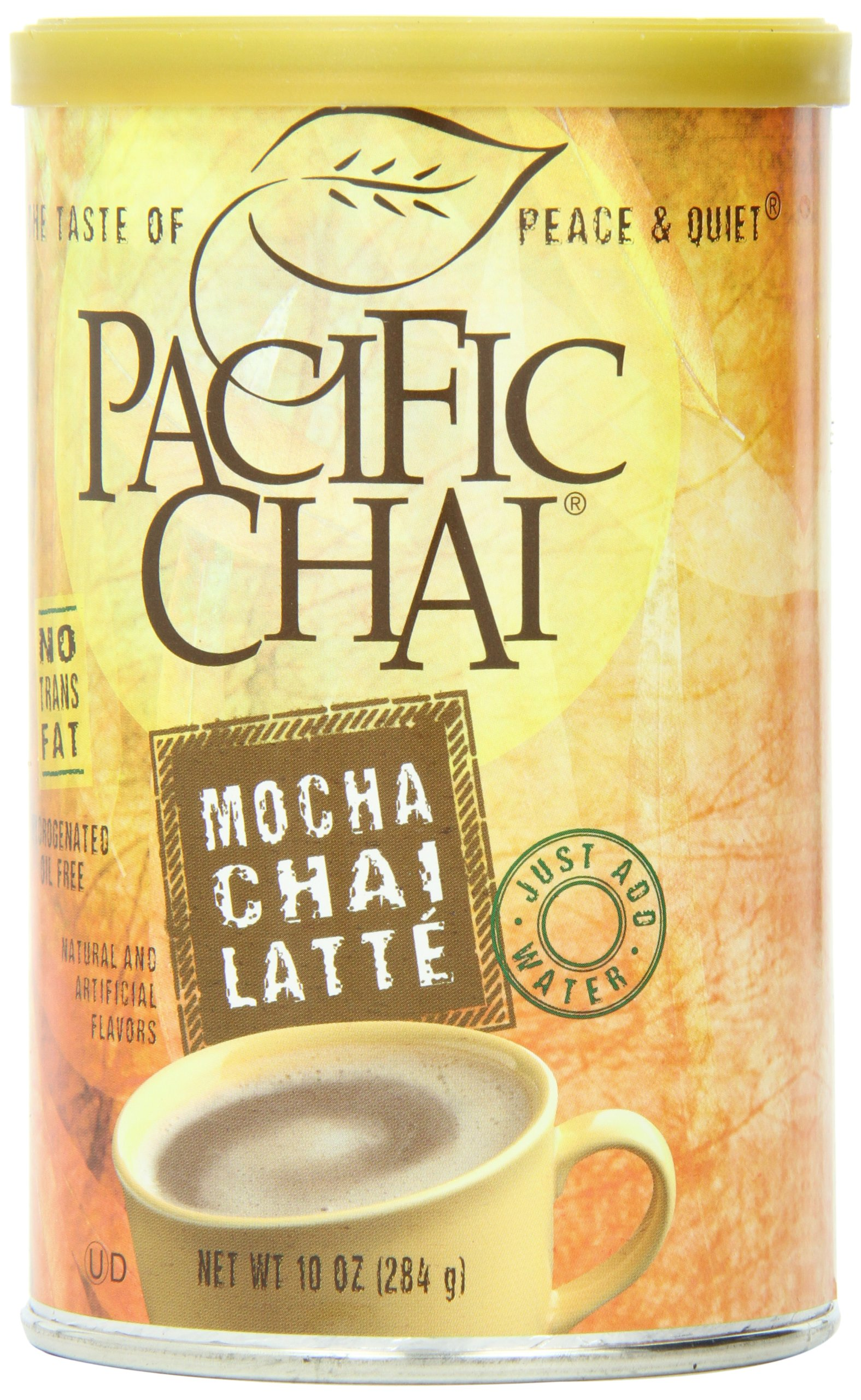 Pacific Chai Mocha Chai Latte  Mix 10-Ounce Canisters (Pack of 6) by Pacific Chai