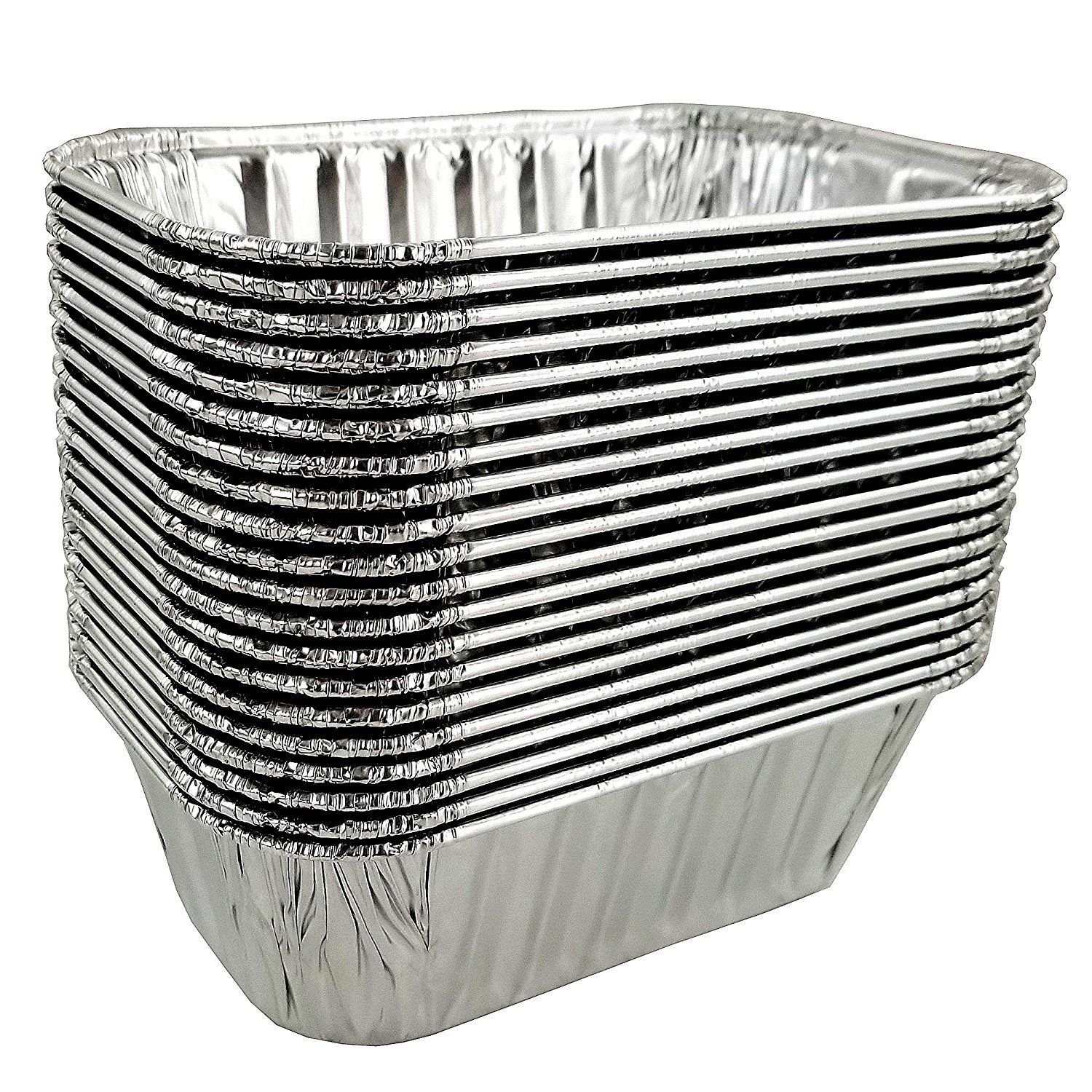 Pactogo Disposable 1 lb. Aluminum Foil Mini Loaf Pans with Clear Dome Lids (Pack of 100 Sets) by PACTOGO (Image #6)
