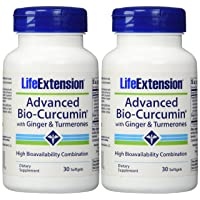 Life Extension Advanced Bio-curcumin with Ginger and Turmerones 30 Softgels (2-Pack...