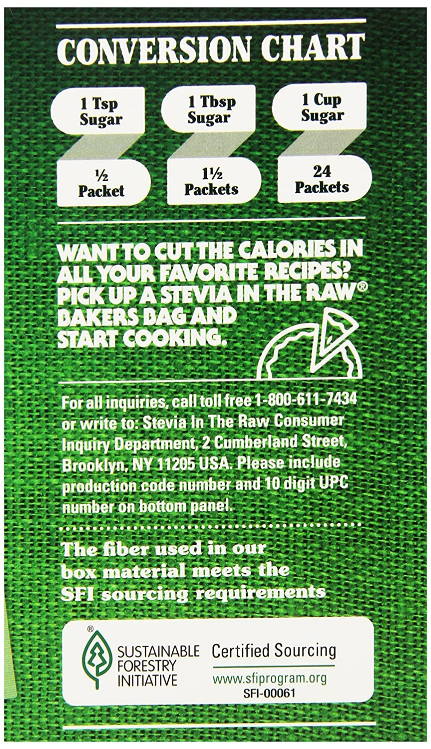 Amazon Com Stevia In The Raw Sweetener 200 Count Packets Sugar Subsute Products Grocery Gourmet Food