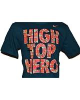 Nike Men's High Top Hero Basketball T-Shirt Night Shade Multi-Colorl