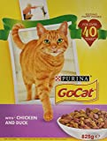 Go-Cat PURINA Adult Cat with Chicken and with Duck dry food 5 x 825g (4.125kg)