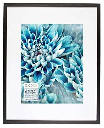 Amazoncom Snap 16x20 Black Wall Picture Frame With Single White