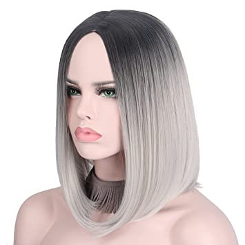 Short Wig Cosplay Wigs for Women Ombre Hair