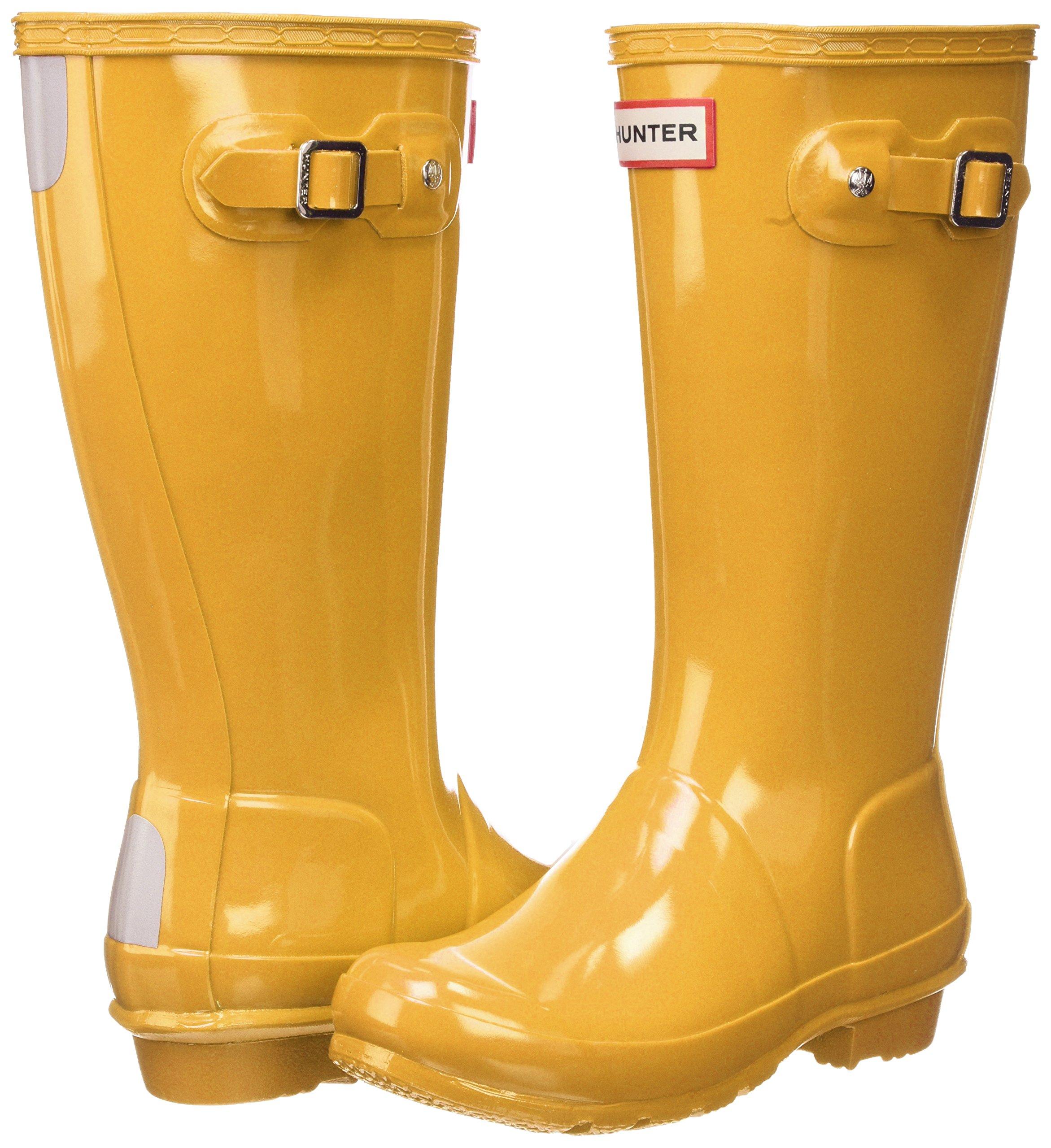 Hunter Kids' Original Gloss Boot, 34, Yellow by Hunter Kids (Image #5)
