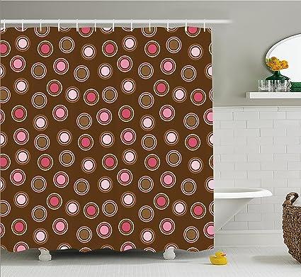 Amazon.com: Ambesonne Vintage Shower Curtain by, Nostalgic Polka ...