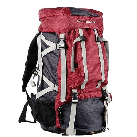f5e02a58c4 Ultrasport Zaino Outdoor e da Trekking con Protezione Impermeabile da 65 + 10  Litri