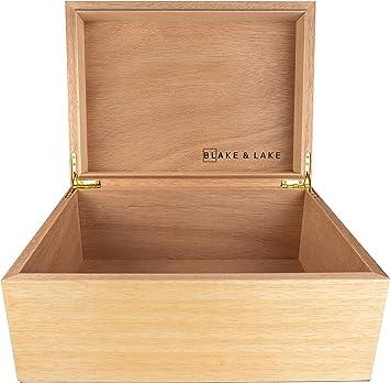 Amazon.com: Caja de madera grande para guardar objetos de ...