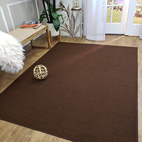 Amazon Com Area Rug 3x5 Solid Brown Kitchen Rugs And Mats Rubber