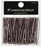 American Dream - Fermagli per capelli dal design ondulato, colore: castano, 6,35 cm, 100 pz