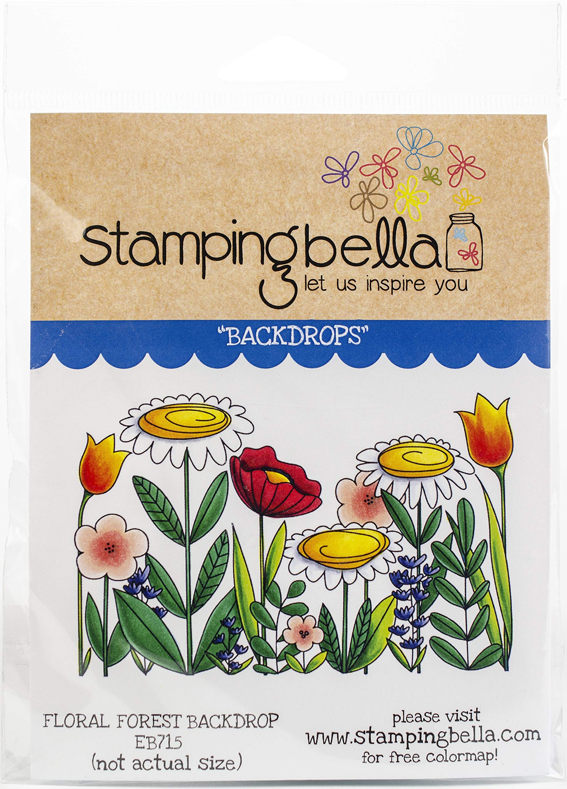 Stamping Bella EB715 Cling Stamps, Tiny Townie Daphme & Her Dogs
