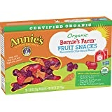 Annie's Organic Bernie's Farm, Fruit Snacks, 5 Pouches, 0.8 Ounce (5 Count) (600126000)