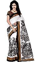Trendz Women's Cotton Silk Saree With Blouse Piece (Tz_Nil_White)