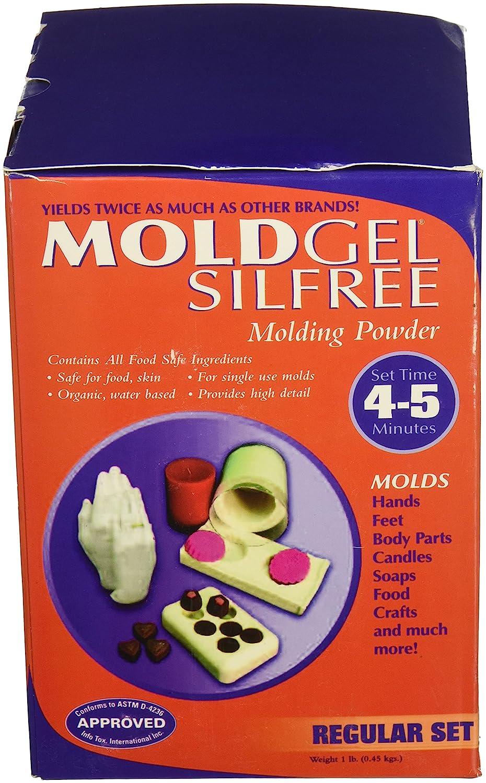ArtMolds AM1R0101W MoldGel Hipoalergénico Moldeado Alginato para Moldes Artesanales, 1 lb, 6.75