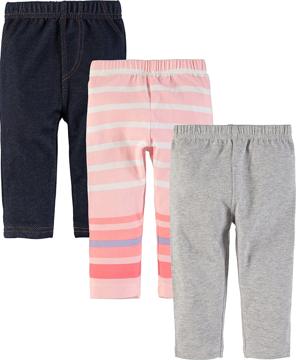 Wan-A-Beez Baby Boys and Baby Girls 3 Pack Pants