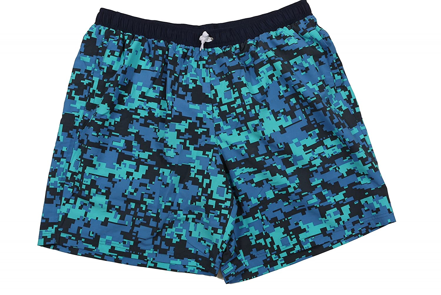 'Swim Shorts By Abraxas in large sizes Print Blue