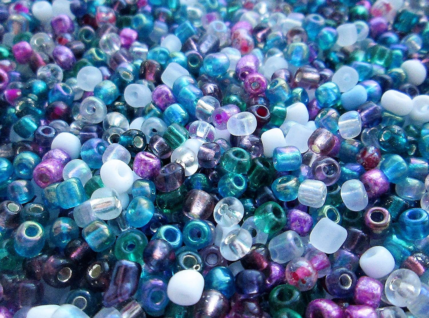 GLASS SEED BEADS SIZE 11//0 OPAQUE 50g CHOICE OF COLOURS UK STOCK 2mm