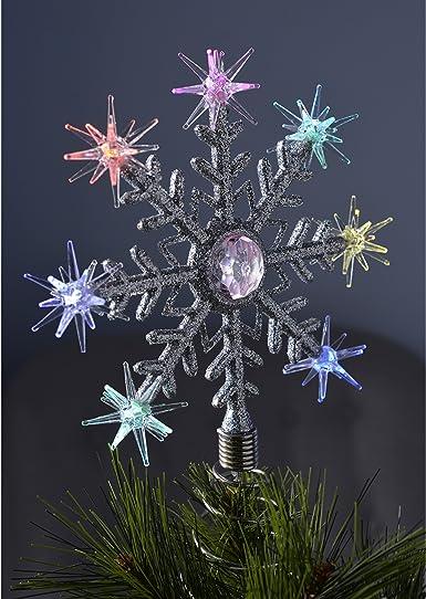 Estrella para árbol de navidad con luces LED de colores, diseño de ...