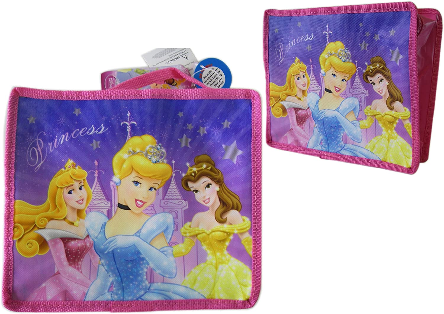 Rapunzel /& Sleeping Beauty /'I/'m a Real Gem/' Gold Lunch Bag Disney Snow White