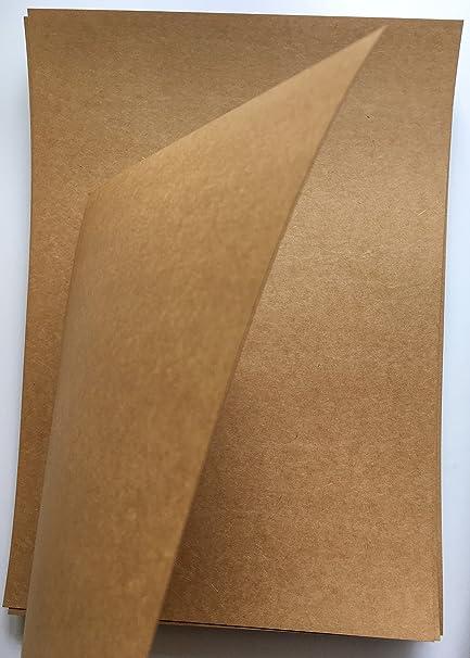 Merakii 300 GSM A4 Kraft Paper for DIY Craft (Brown) - Pack of 4