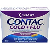 Contac Cold+Flu Night featuring powerful cold + flu relief, 24 caplets
