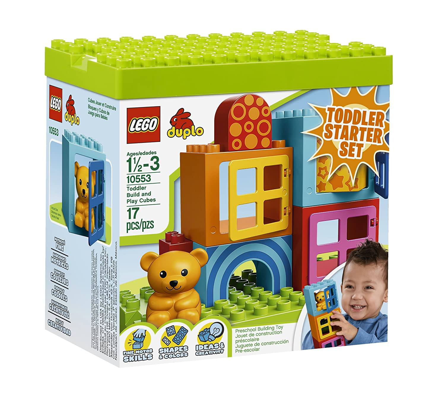 Amazon LEGO DUPLO Toddler Build and Play Cubes Toys & Games