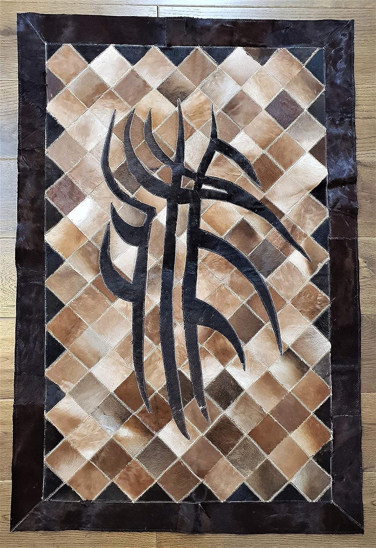 Teppich aus Rindsleder, Patchwork-Teppich, Tierleder, Tapis de Travail en peau de Vache