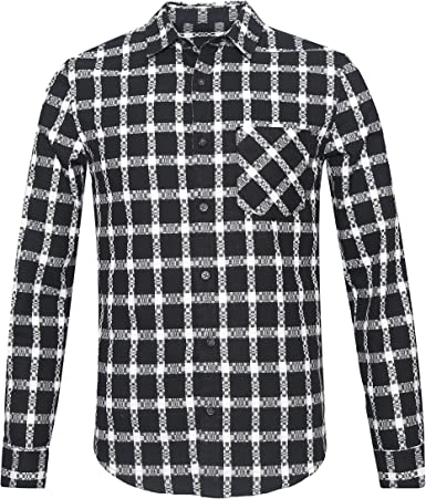 SOOPO Camisa de Franela con Botones, Manga Larga para Hombres, Camisa de Verano Bonita y cómoda, Tallas: Amazon.es: Ropa y accesorios