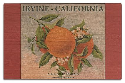 Amazon.com: Irvine, California - Fruit Company Orange Citrus Crate ...