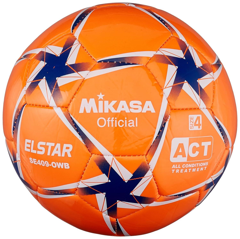 MIKASA Elstar, balón fútbol Unisex niños, Elstar, Giallo/Azzurro ...