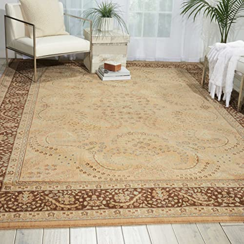 Nourison Persian Empire Sand Rectangle Area Rug, 7-Feet 9-Inches by 10-Feet 10-Inches 7 9 x 10 10