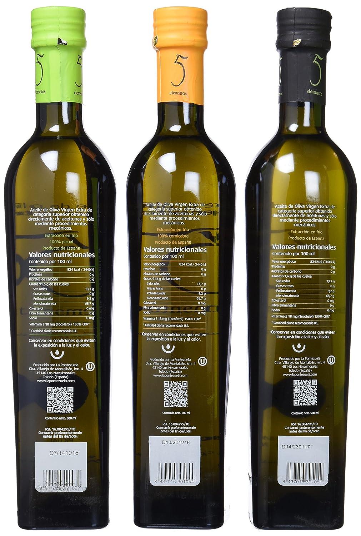 5Elementos Picual, Cornibra, Coupage Aceite de Oliva Virgen Extra - 3 Unidades 500 ml - Total: 1500 ml: Amazon.es: Alimentación y bebidas