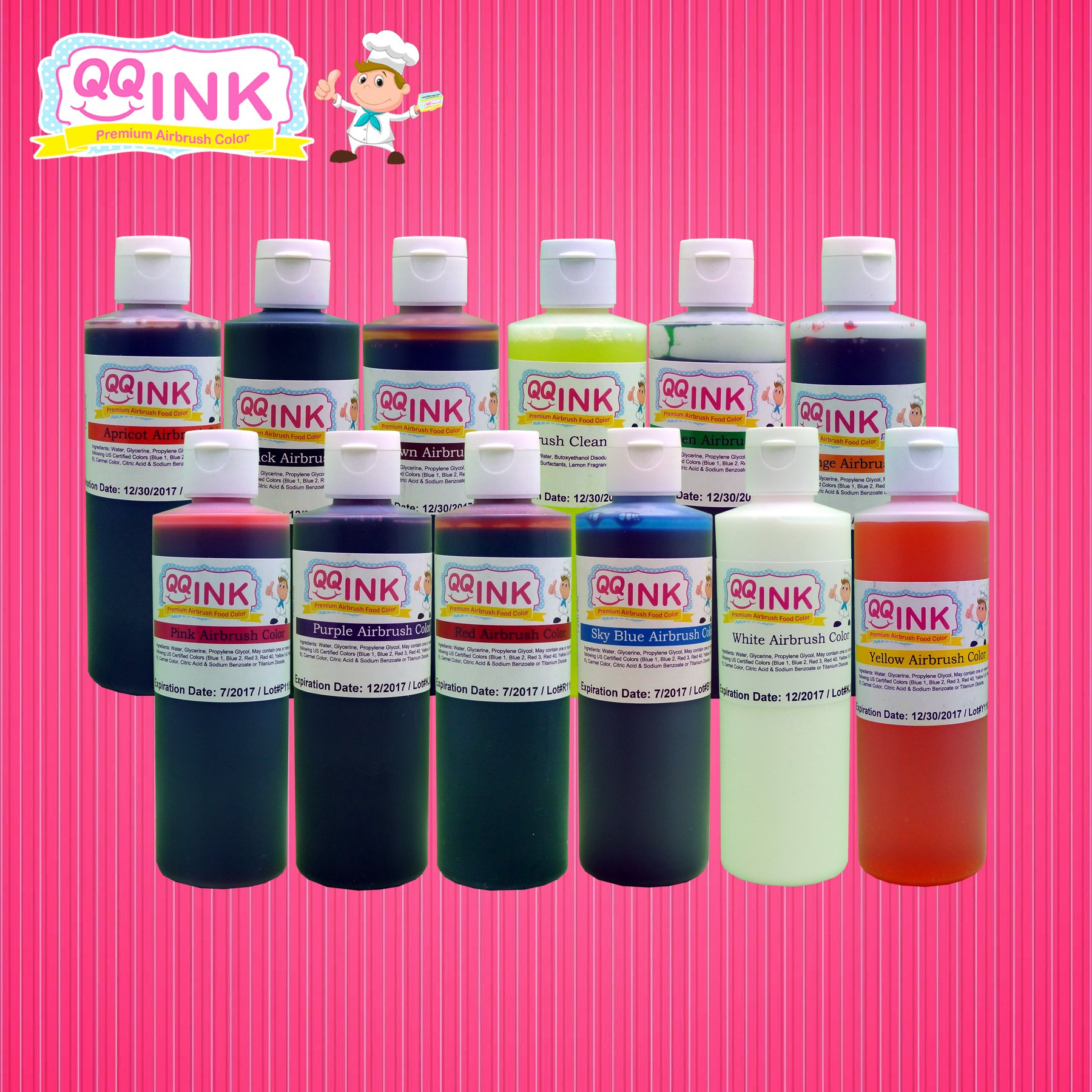 QQink - 9 oz Airbrush Food Color Combo