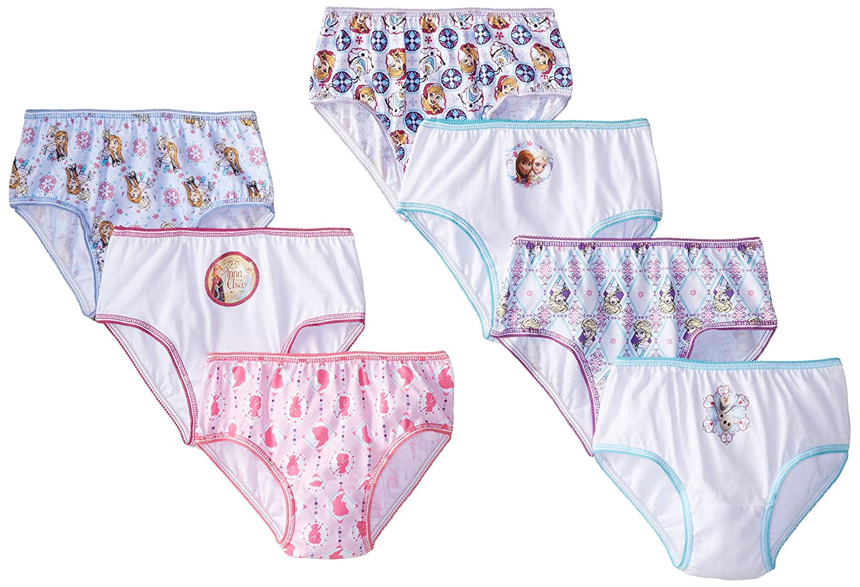 Disney girls Little Girls Frozen Seven-pack Panty Set 1162302Littlegirls