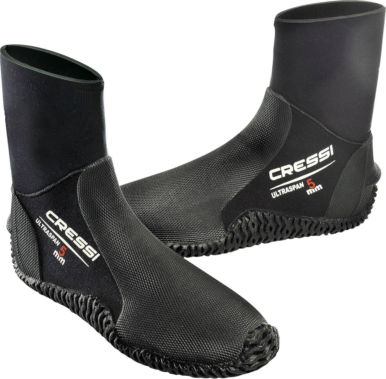 Cressi Boot Escarpines sin Cremallera en Neopreno Ultra Span 5 mm, Unisex Adulto