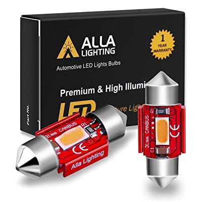 Alla Lighting 800lm Xtreme Super Bright Festoon 31MM DE3175 DE3022 LED Red Bulbs Replacement for Cars Trucks Interior Map Dome Trunk Courtesy Lights DE3022: Automotive [5Bkhe0802112]