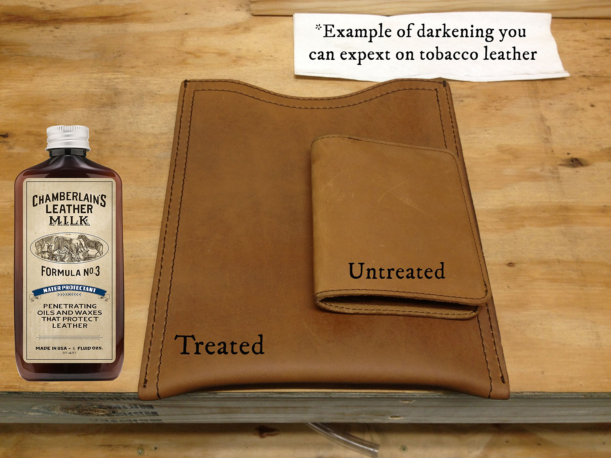 Leather Milk Leather Restoration Kit. Leather Cleaner, Conditioner, and Water Protector - No. 1-3 Leather Care Kit - All Natural, Non-Toxic. 2 Sizes. Made in The USA. Includes 3 Restoration Pads! by Chamberlain's Leather Milk (Image #5)