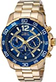 Invicta Men's 'Pro Diver' Quartz and Stainless Steel Casual Watch, Color:Gold-Toned (Model: 22714)
