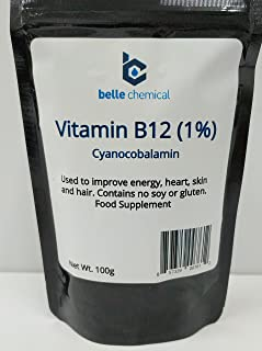 product image for Vitamin B12 (Cyanocobalamin) 1% Pharmaceutical Grade (100 Grams)
