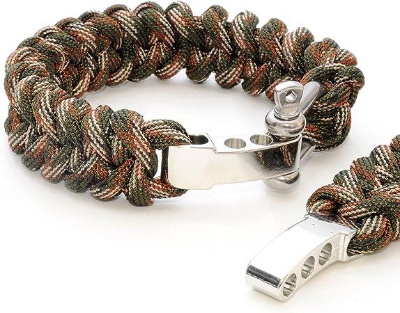 2er SET universal de supervivencia-cuerda (compacto para pulsera trenzada) resistente