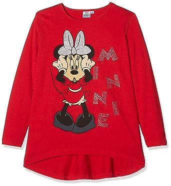 Okydoki Maxishirt ml, Camiseta Manga Larga para Niñas, Rosso (Multicolor),  10