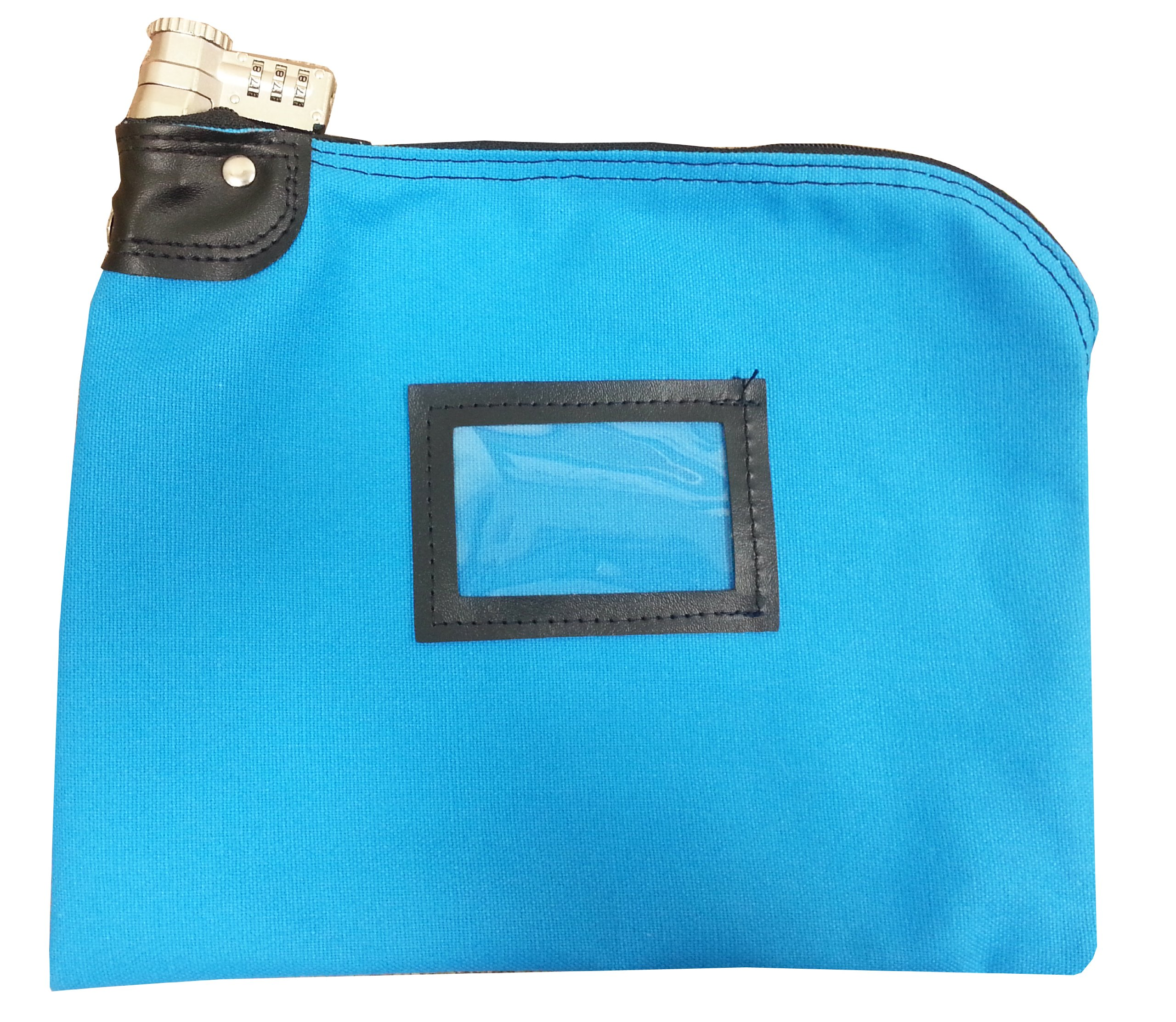 Lockable Security Bag Combination Keyed Lock Canvas Deep Sky Blue